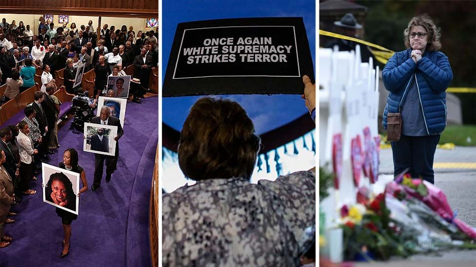 وقفات الاحتجاجية في عدة أماكن ضد هجمات أتباع نظرية تفوق البيض