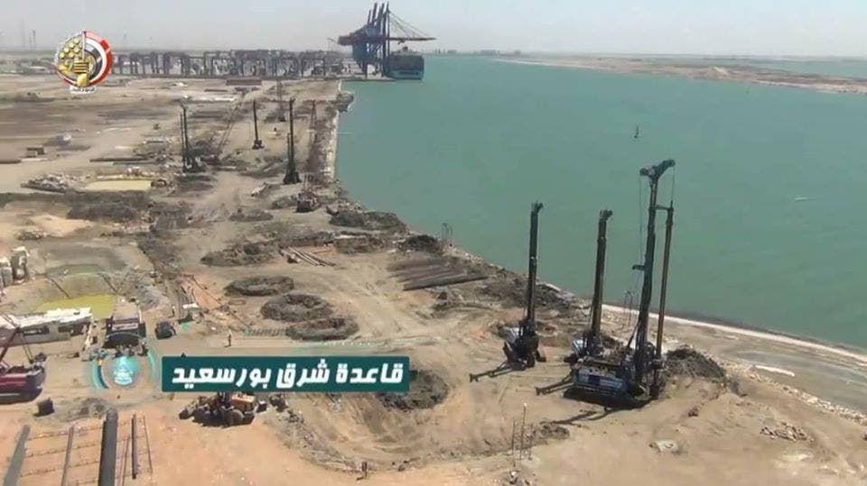 تواصل الأعمال الإنشائية في قاعدة شرق بورسعيد البحرية