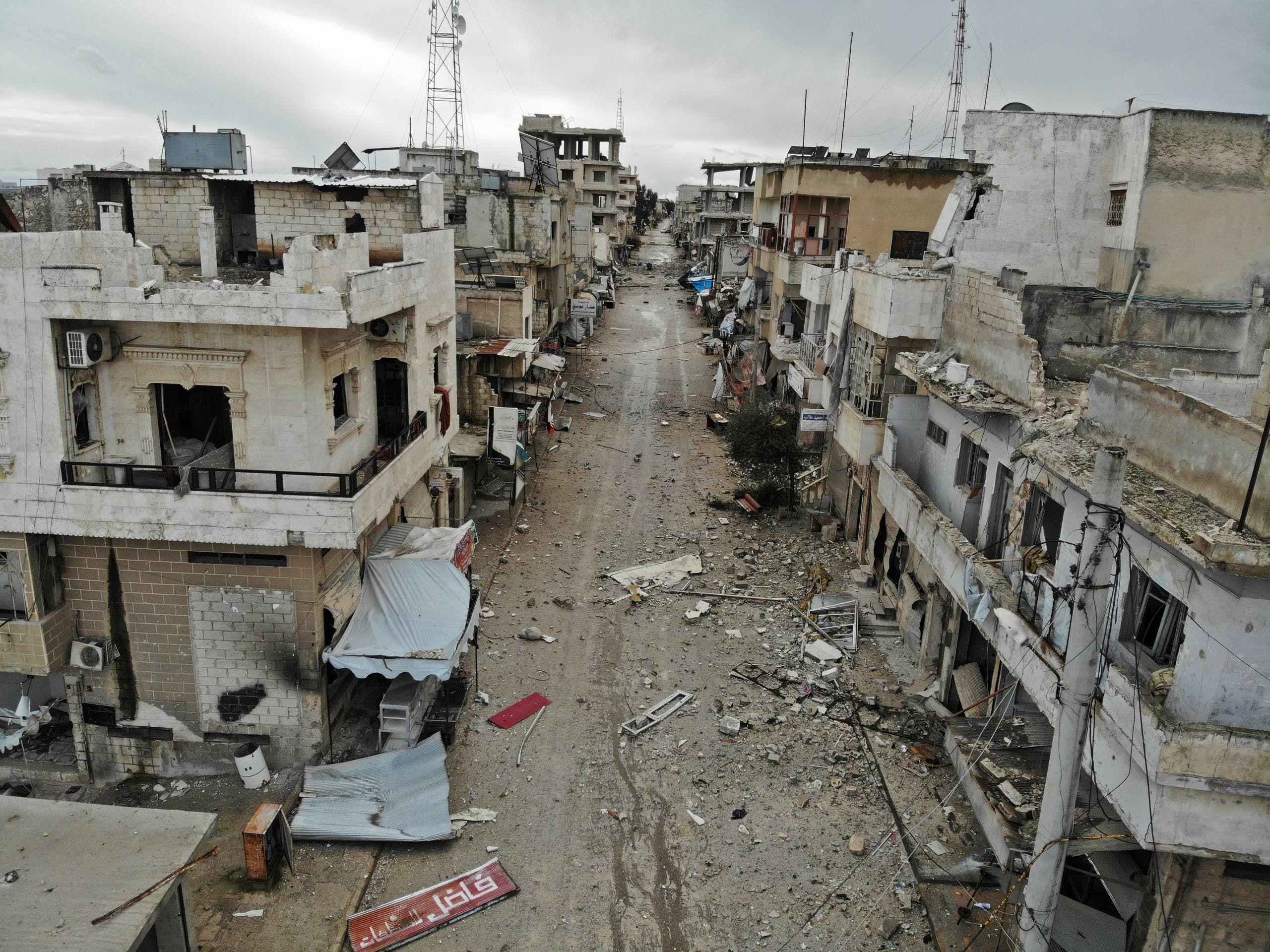 من سرمين في إدلب (أرشيفية- فرانس برس)
