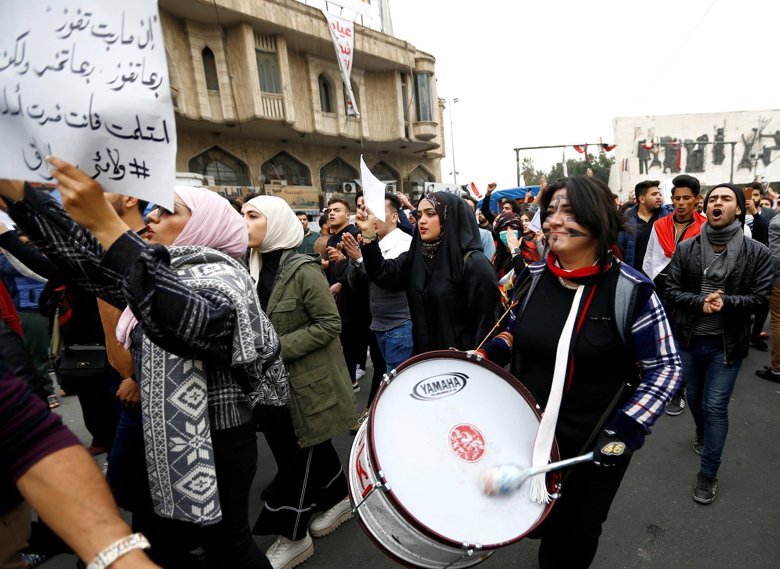 من وسط بغداد (16 فبراير - رويترز)