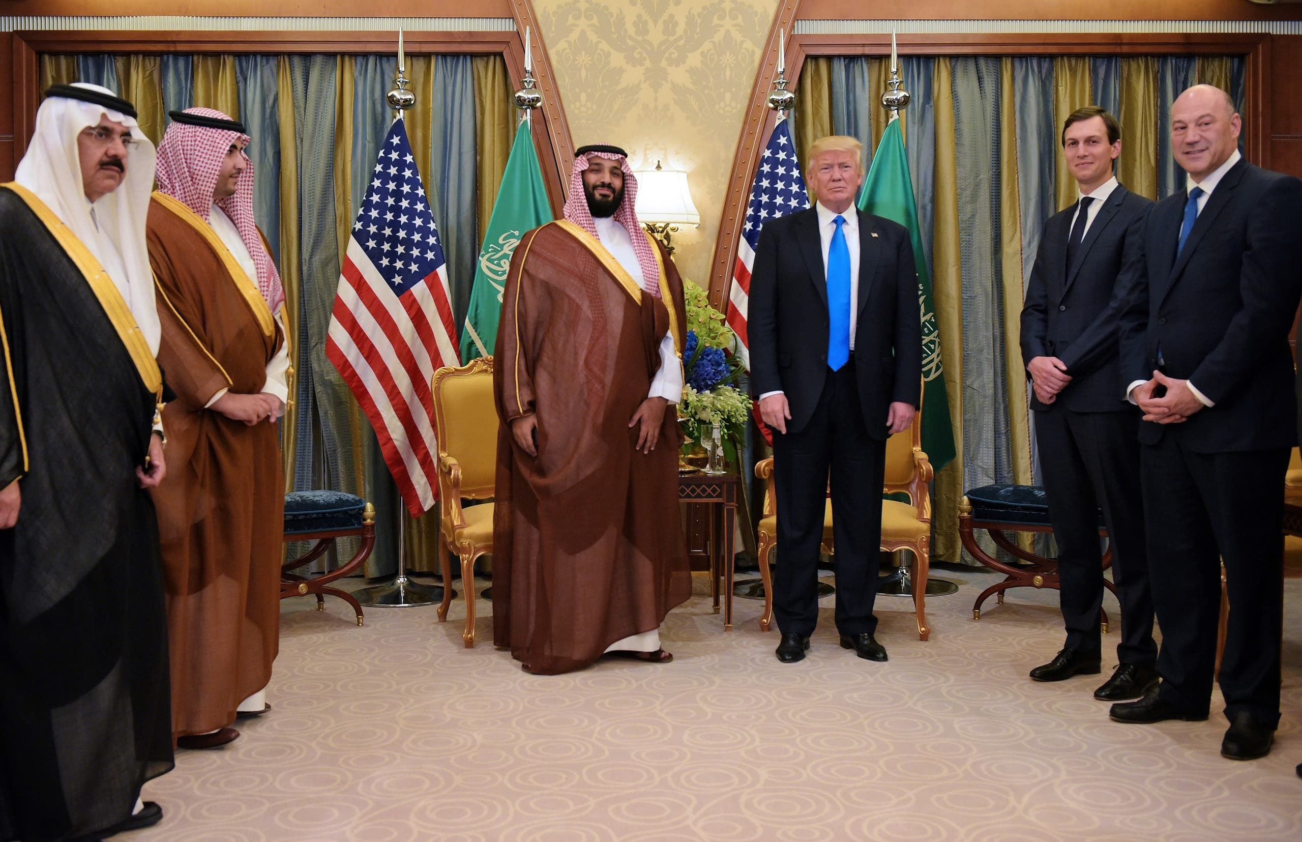 من لقاء الأمير محمد بن سلمان وترمب في الرياض يوم 20 مايو 2017