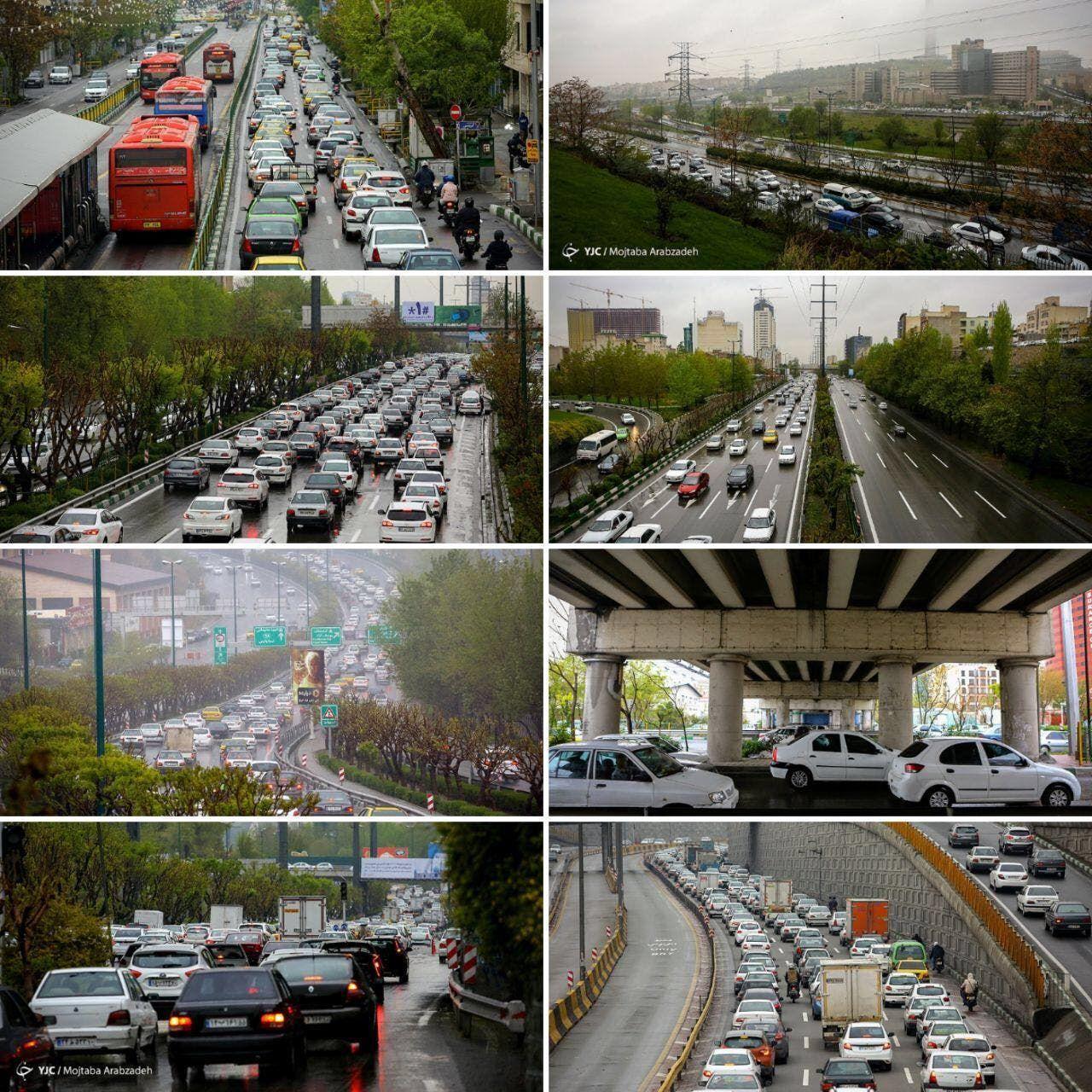 الزحام المروري في طهران