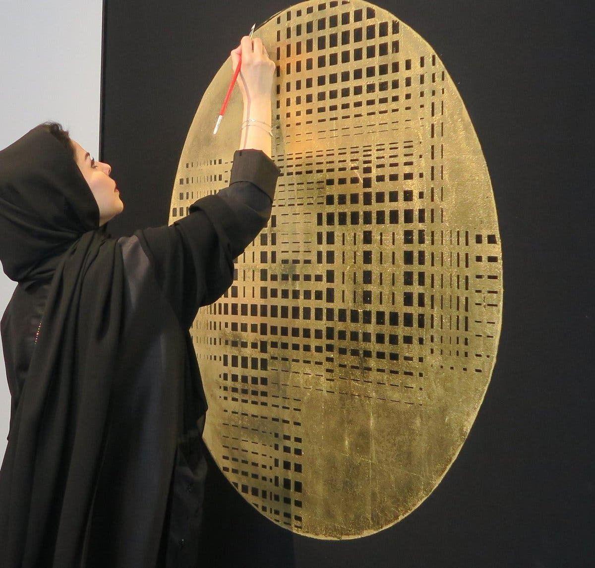 الفنانة التشكيلة السعودية لولوة الحمود