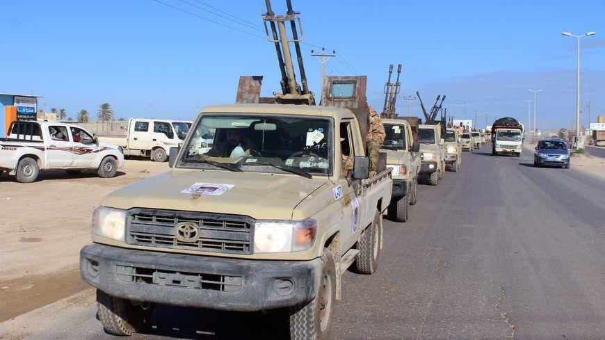 آليات عسكرية تابعة لقوات الوفاق الليبية