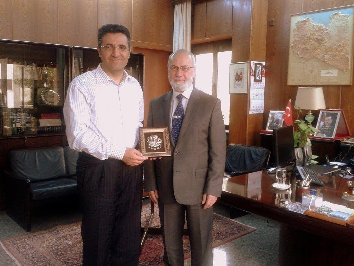 عدنان تانفردي مدير شركة السادات في ضيافة السفير التركي السابق في طرابلس