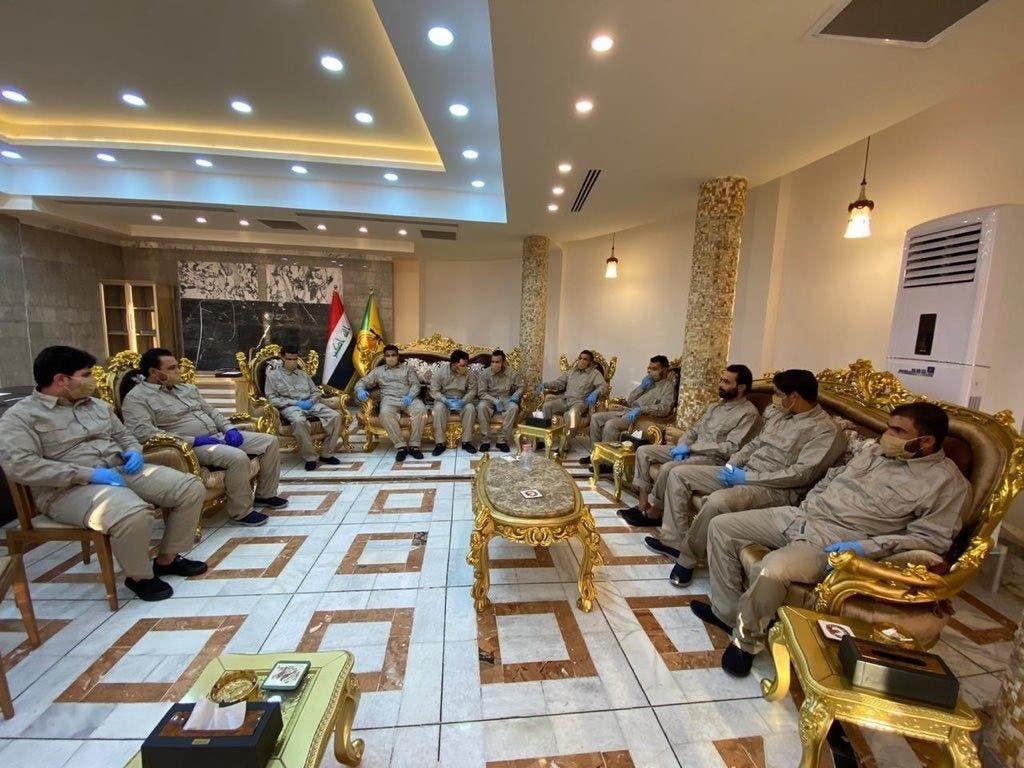عناصر كتائب حزب الله الذين تم إطلاق سراحهم