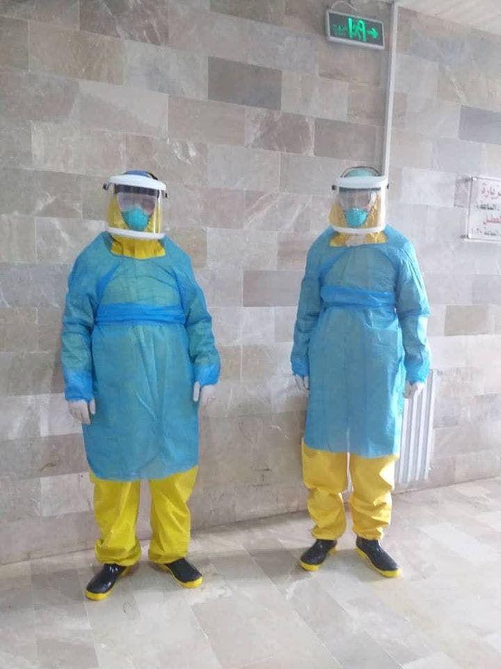 من العاملين في مستشفى الحفة باللاذقية