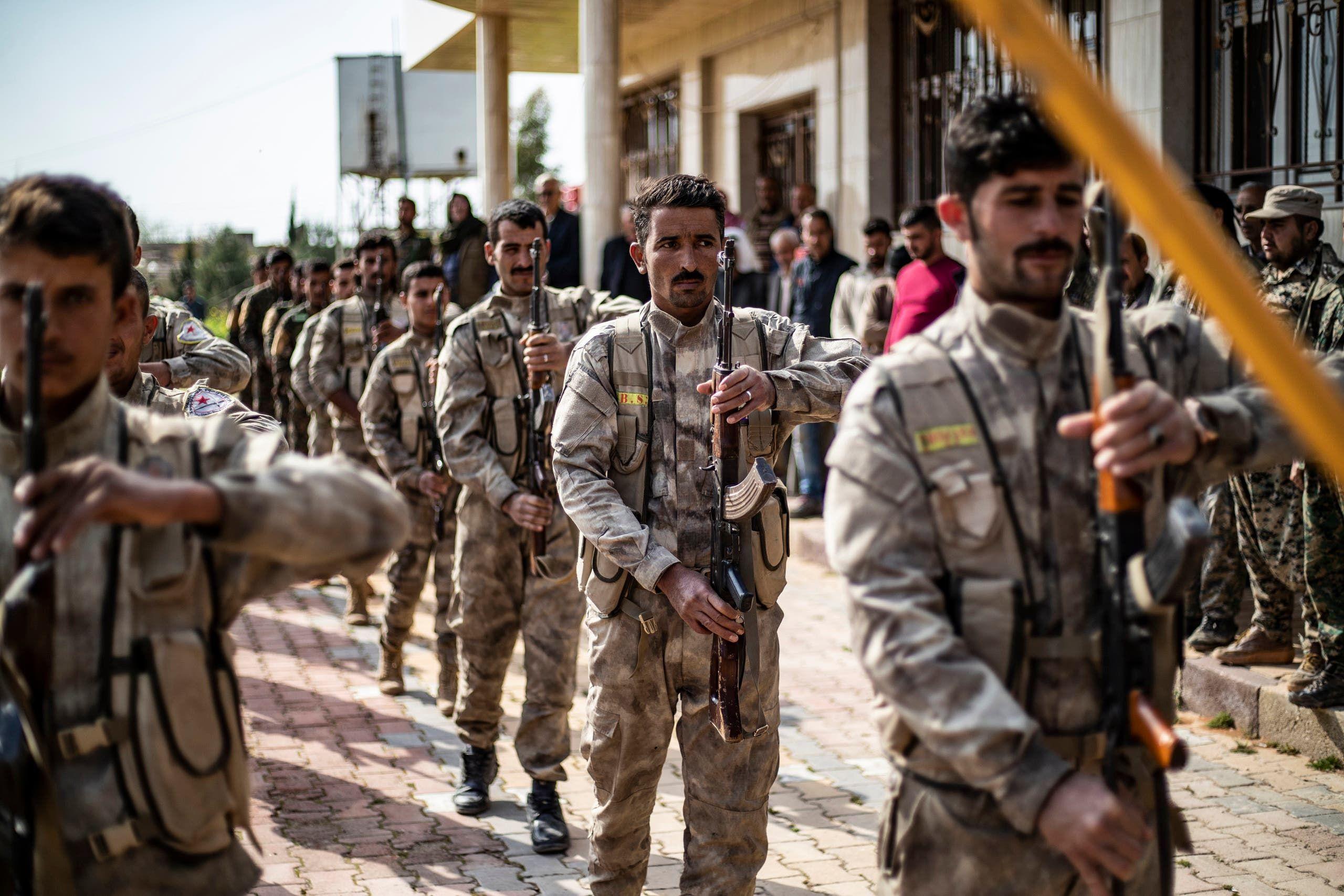 قوات سوريا الديمقراطية (فرانس برس)