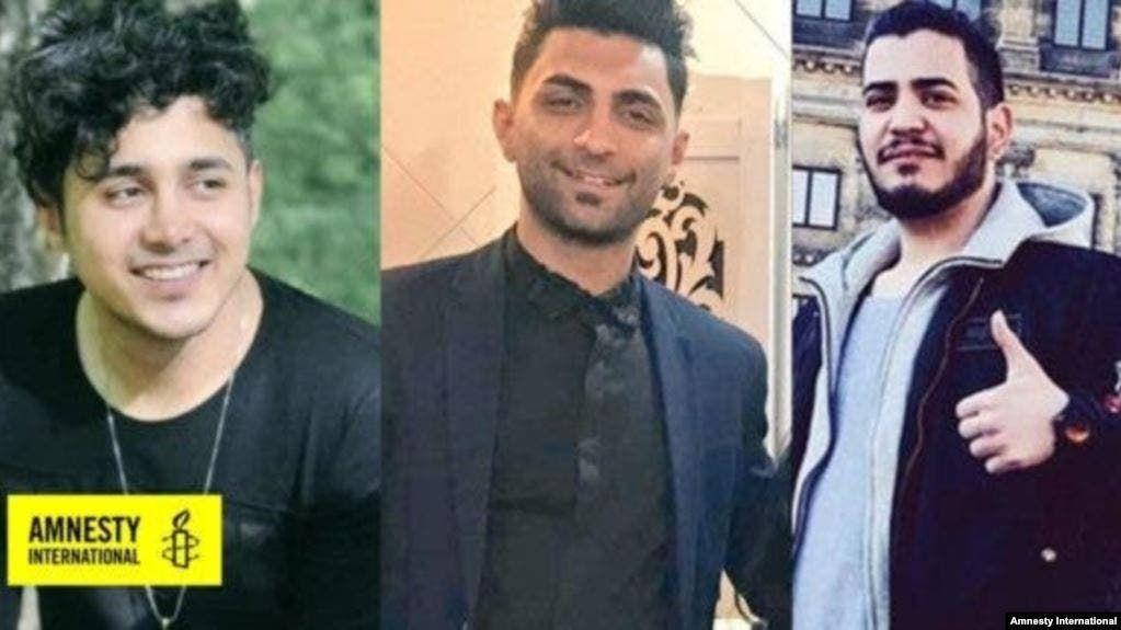 الشبان الثلاثة المتظاهرين المحكومين بالاعدام امیر حسین مرادي محمد رجبي و سعید تمجیدي