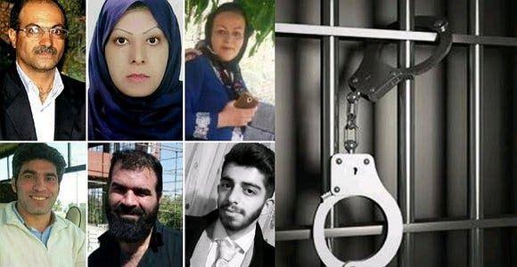 بعض الناشطين الذين تم اعتقالهم أمس في تبريز