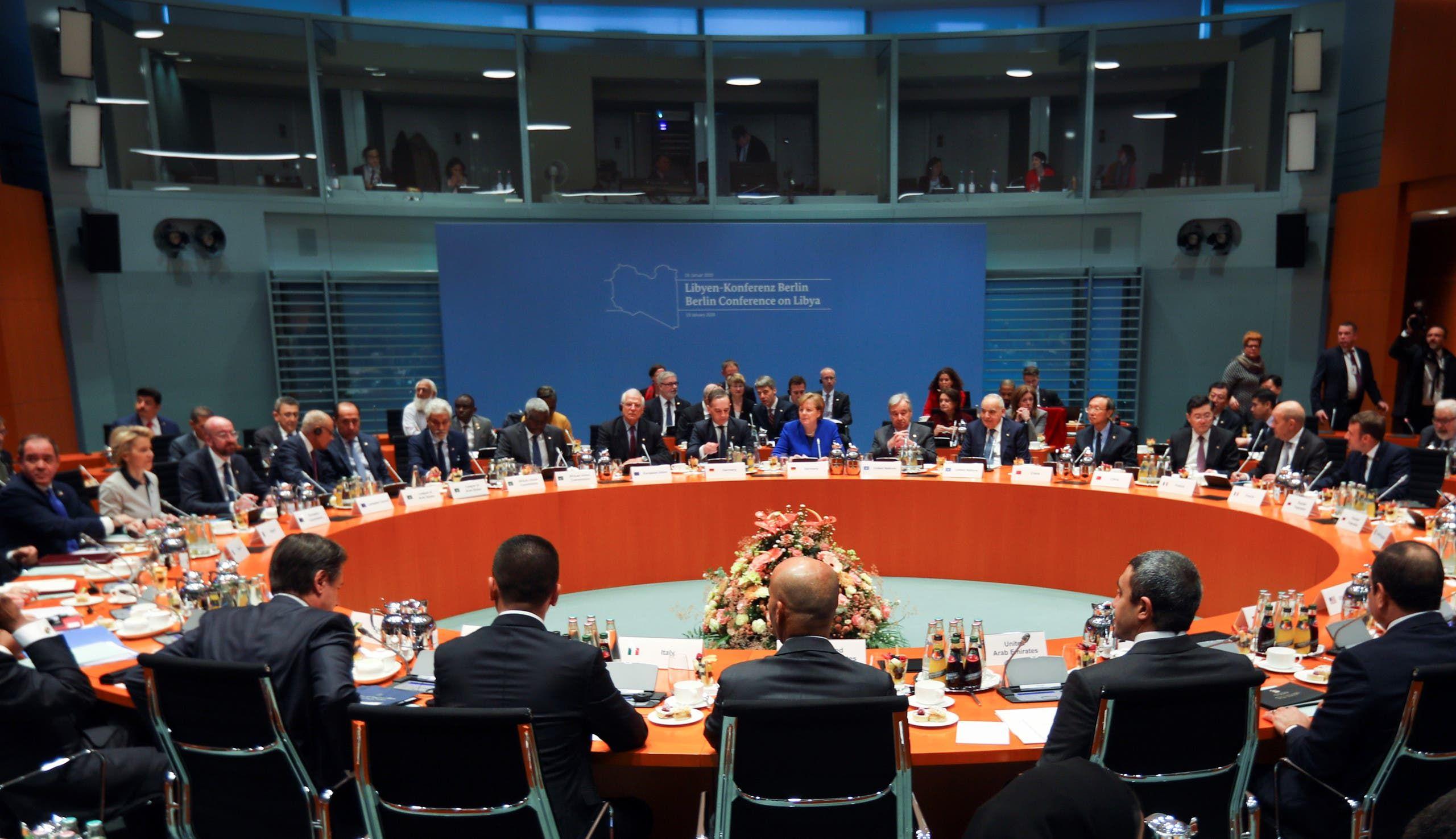 من مؤتمر برلين حول ليبيا في يناير الماضي