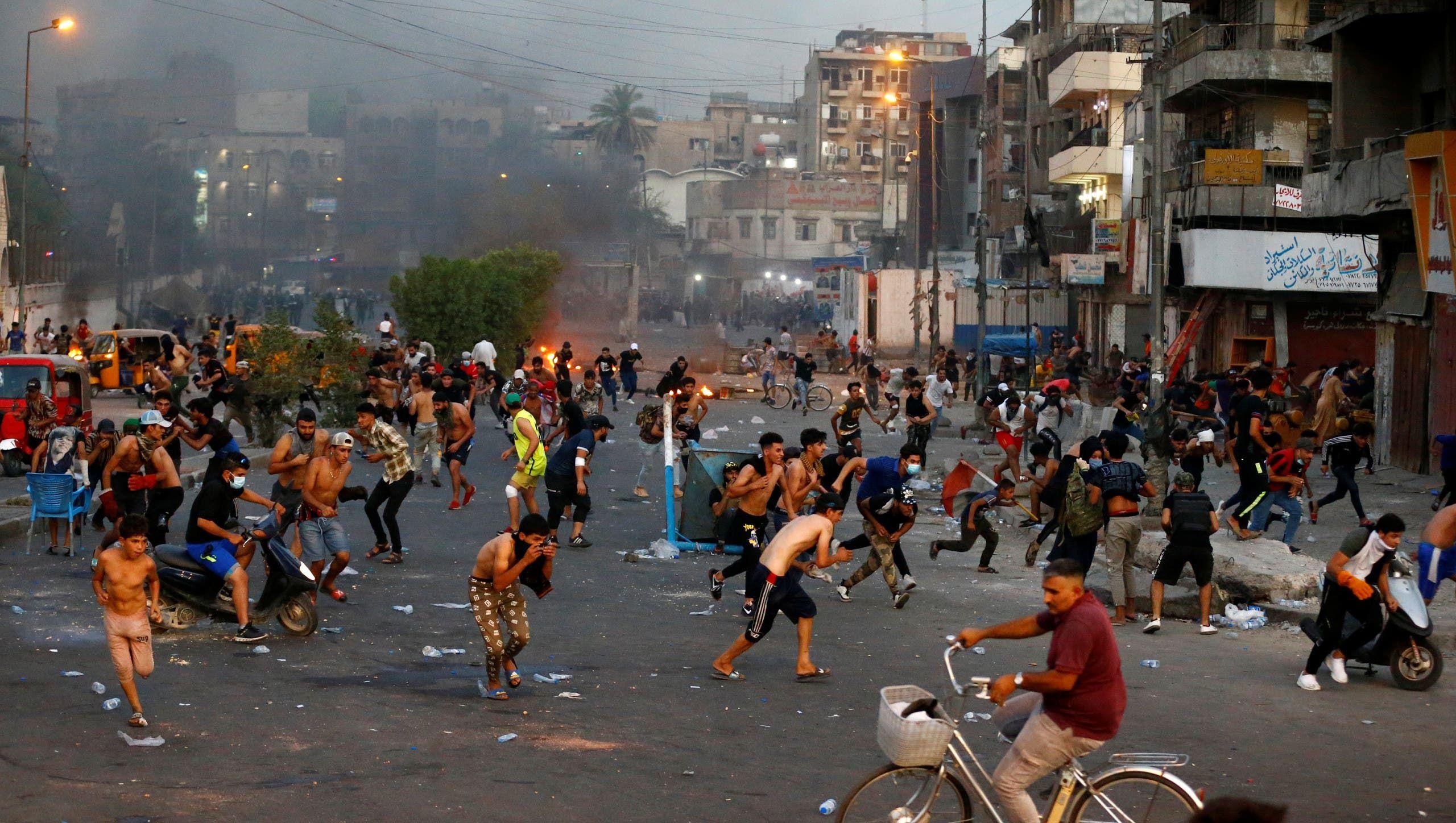 من الاحتجاجات الاثنين في بغداد