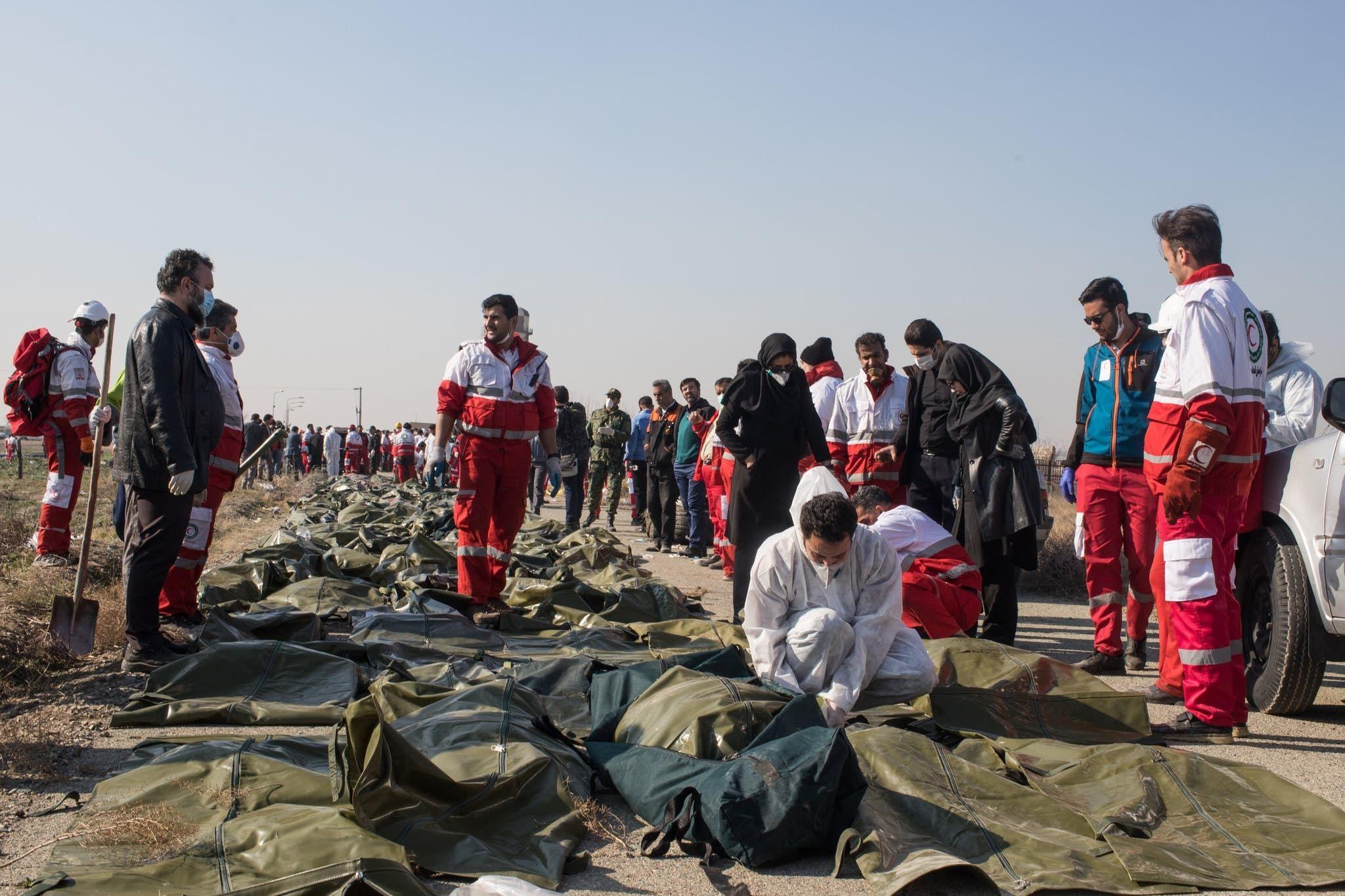 من موقع سقوط الطائرة الأوكرانية (أرشيفية)