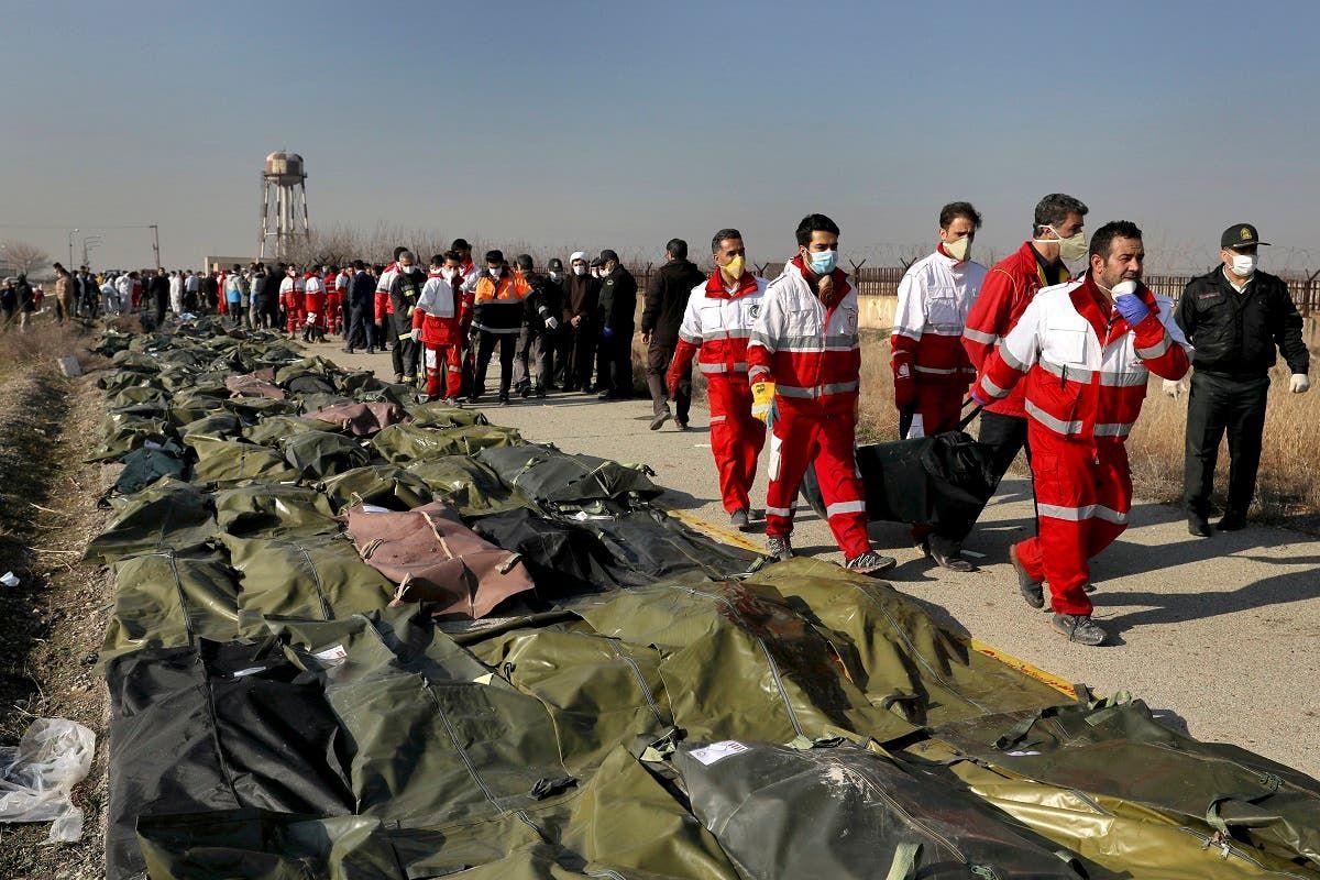 جثث ضحايا الطائرة
