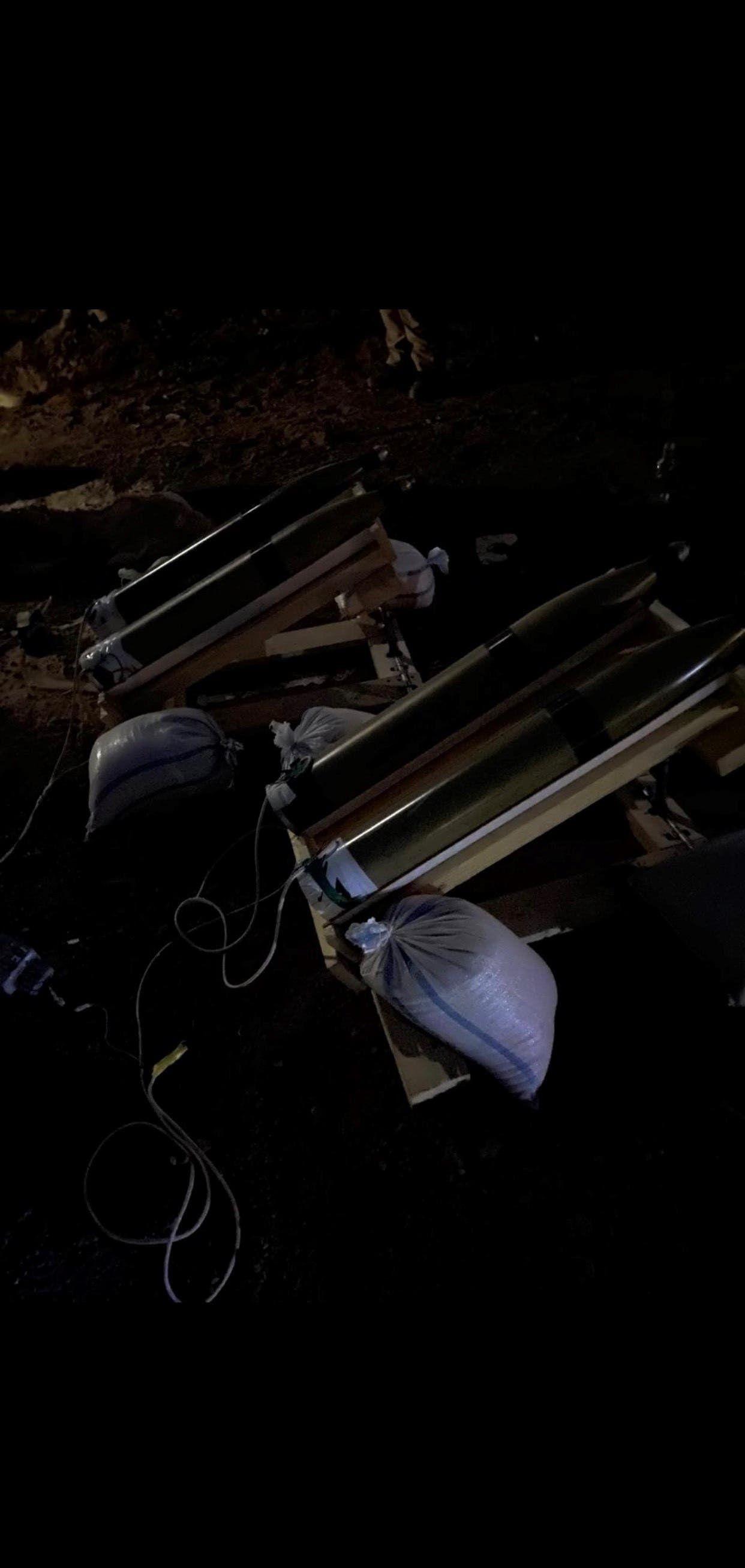 الصواريخ التي تم ضبطها وسط بغداد