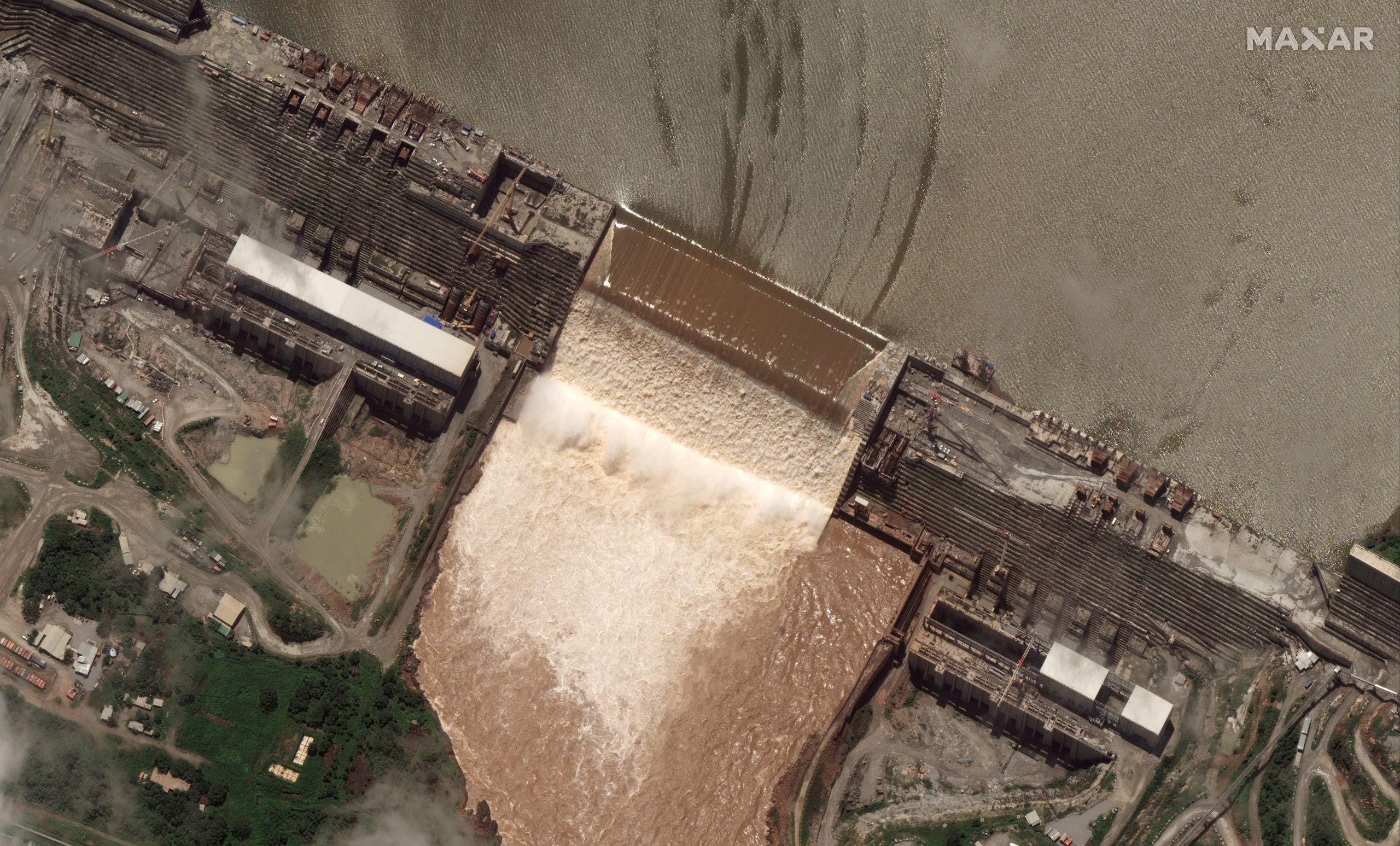 صورة بالأقمار الصناعية لسد النهضة