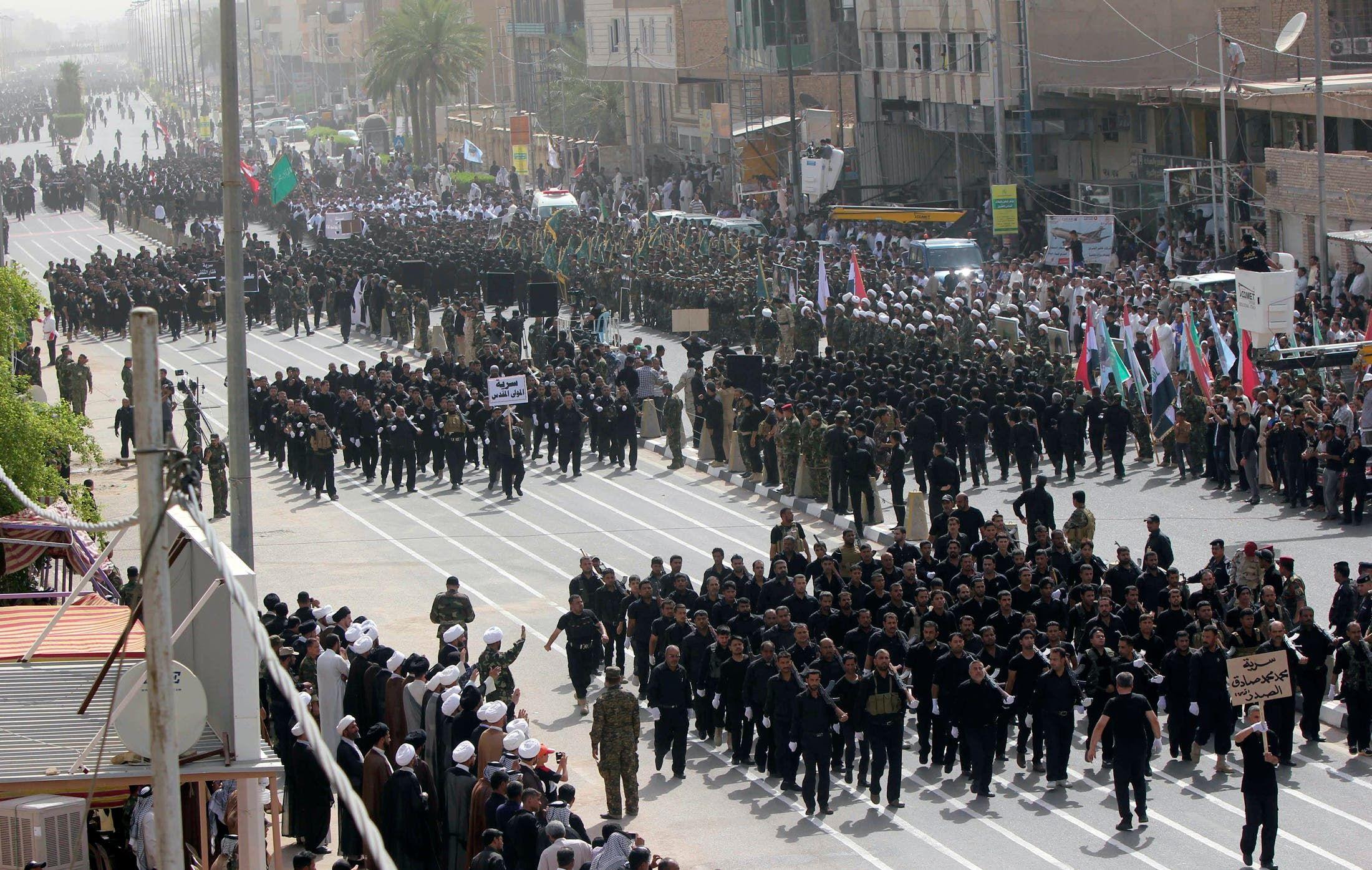 استعراضات مسلحة لقوات مقتضى الصدر
