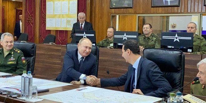 بوتين يلتقي الأسد في دمشق (7 يناير 2020)