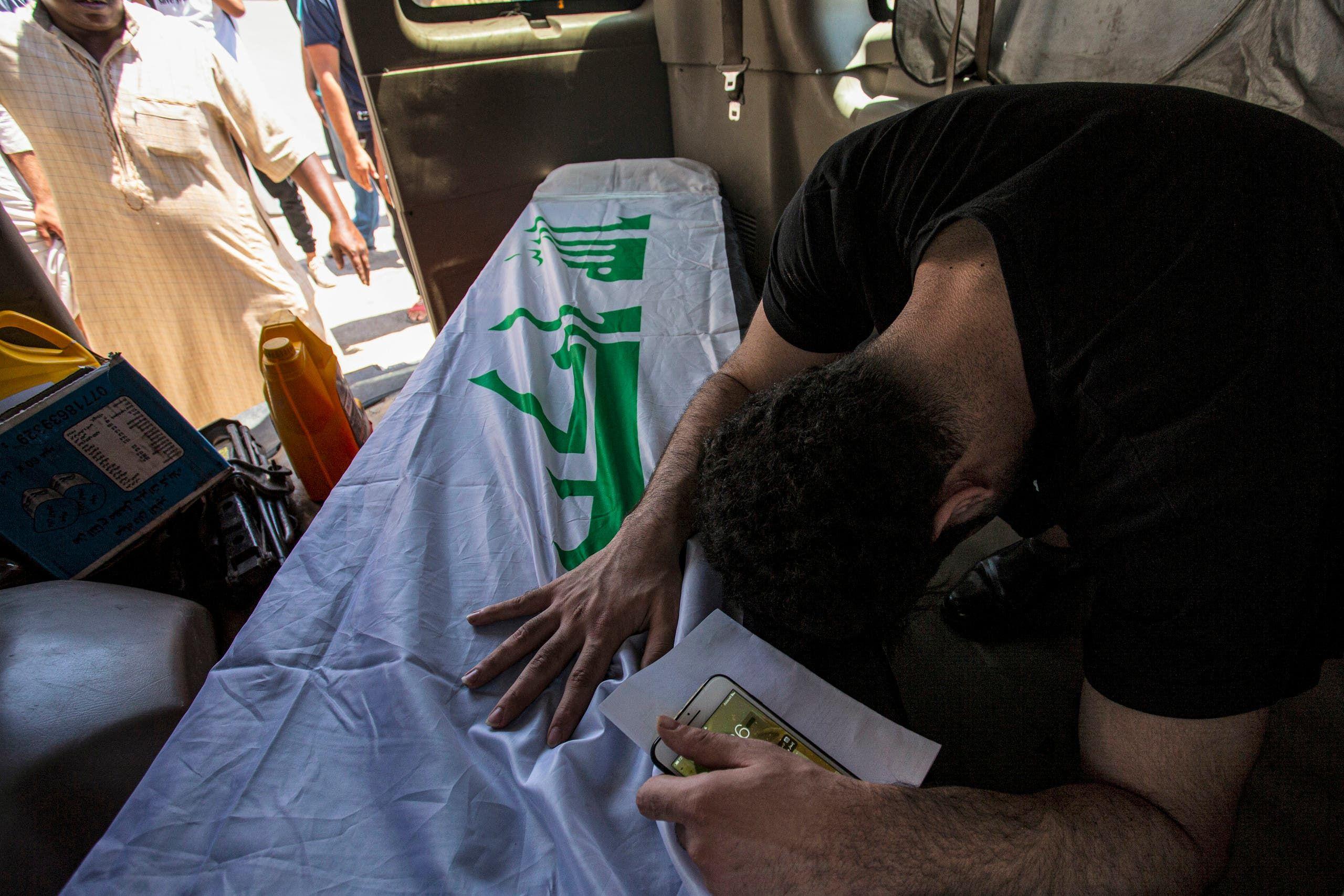 من تشييع الطبيبة العراقية ريهام يعقوب أرشيفية- فرانس برس