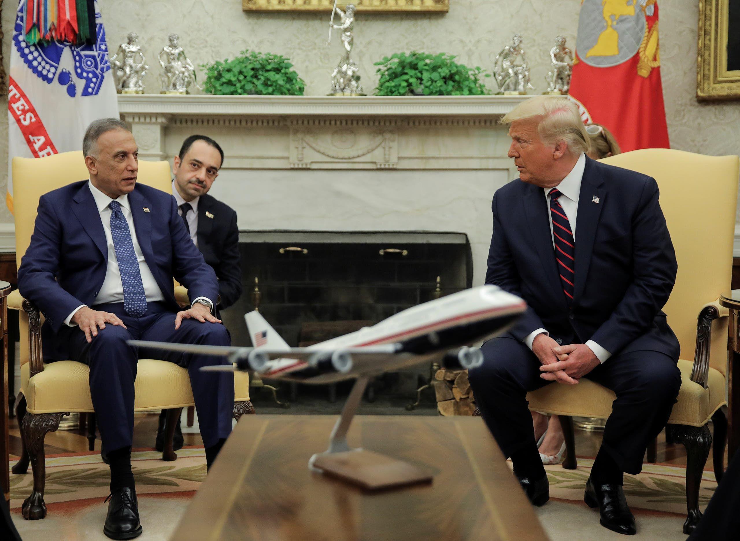 من لقاء ترمب والكاظمي في البيت الأبيض الخميس