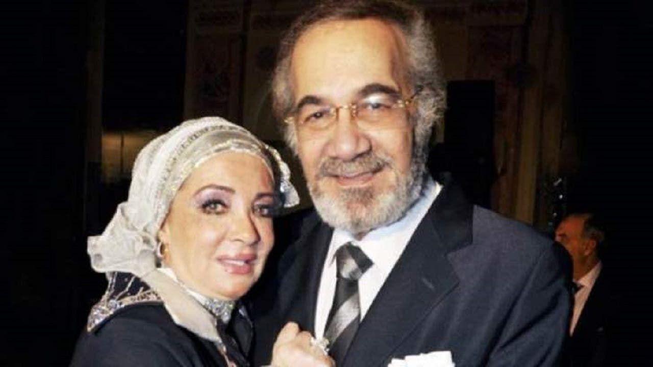 محمود ياسين وزوجته شهيرة