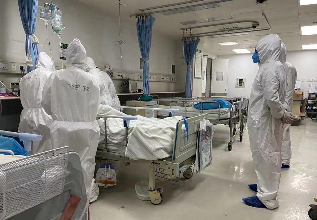 من احد مستشفيات الصين - فرانس برس