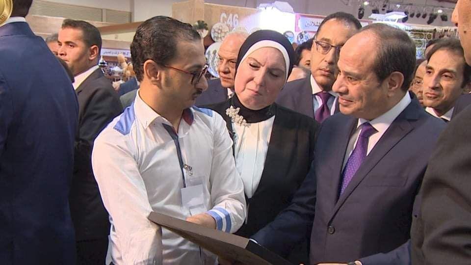 خلال لقاءه الرئيس السيسي
