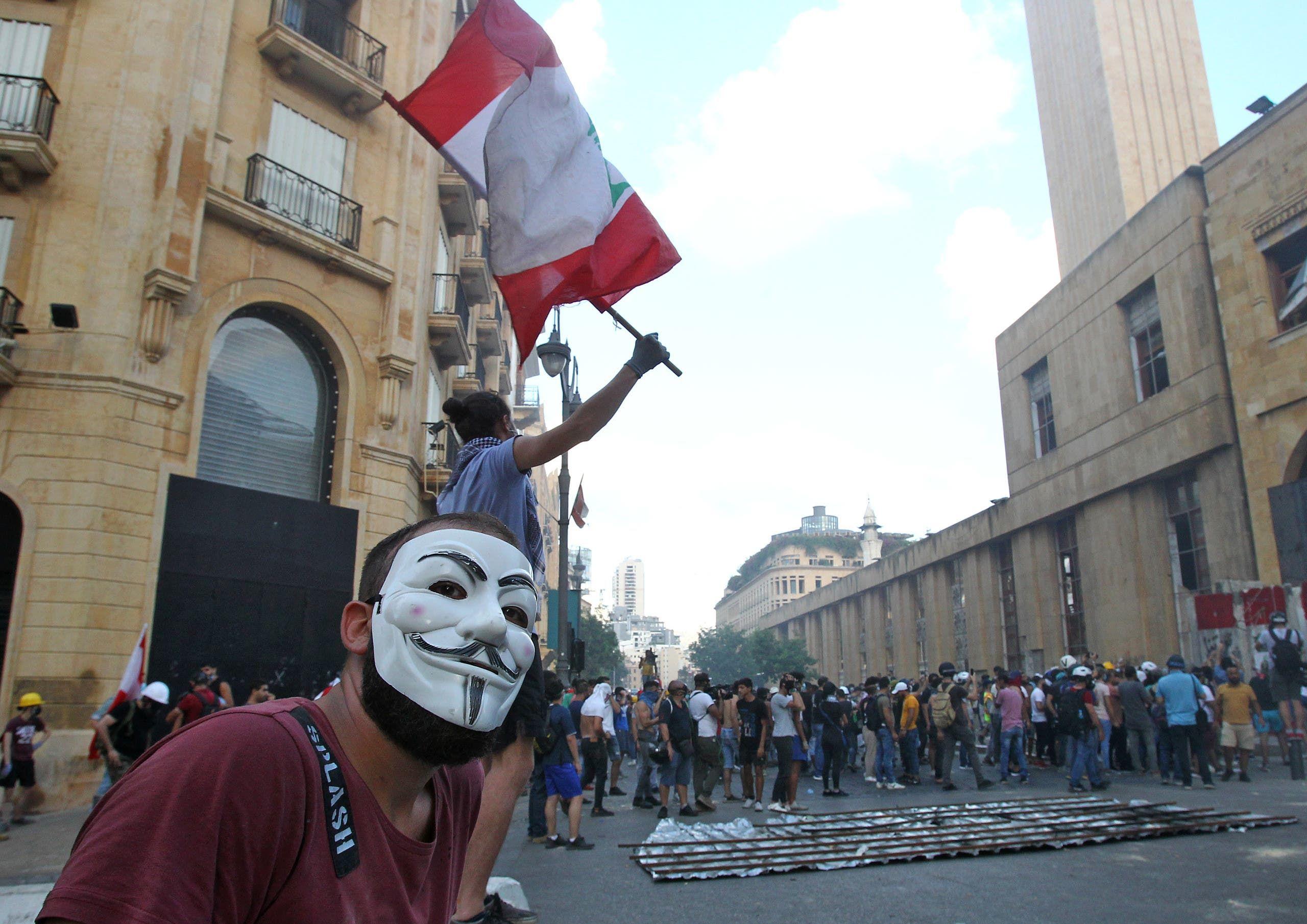 من أمام البرلمان اللبناني (أرشيفية- فرانس برس)