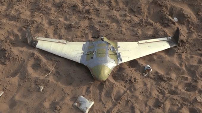 طائرة مسيرة حوثية أسقطها الجيش اليمني مؤخراً (أرشيفية)
