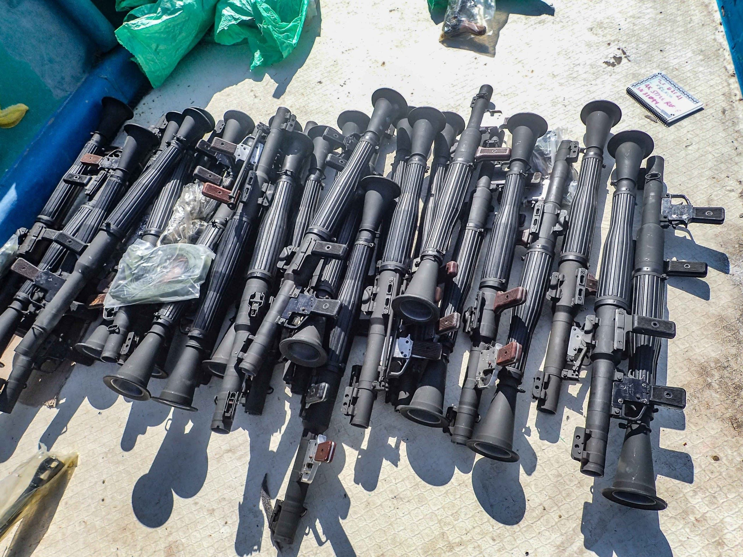 جانب من الأسلحة التي تم ضبطها