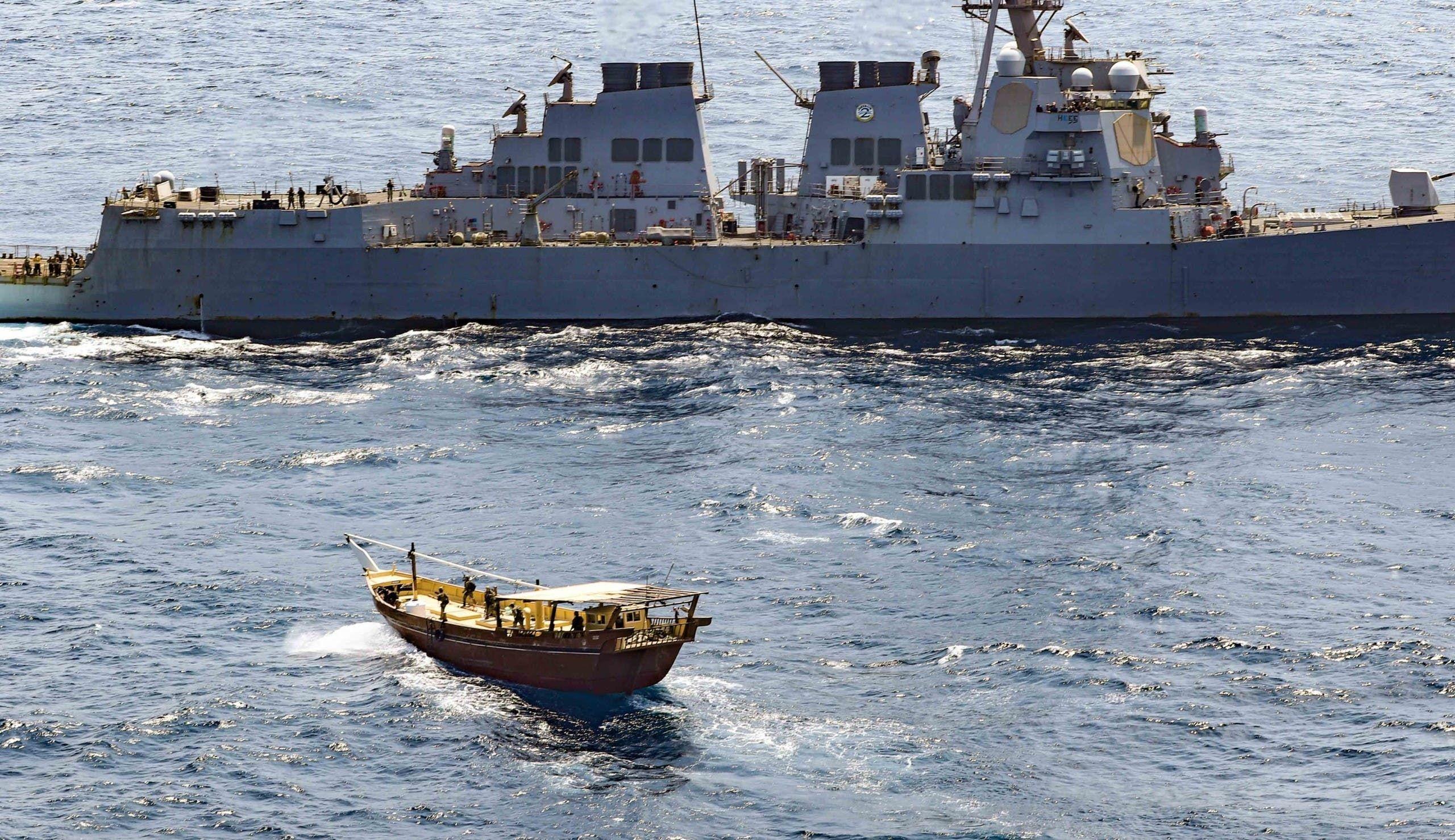 من عملية ضبط تهريب الأسلحة قبالة اليمن