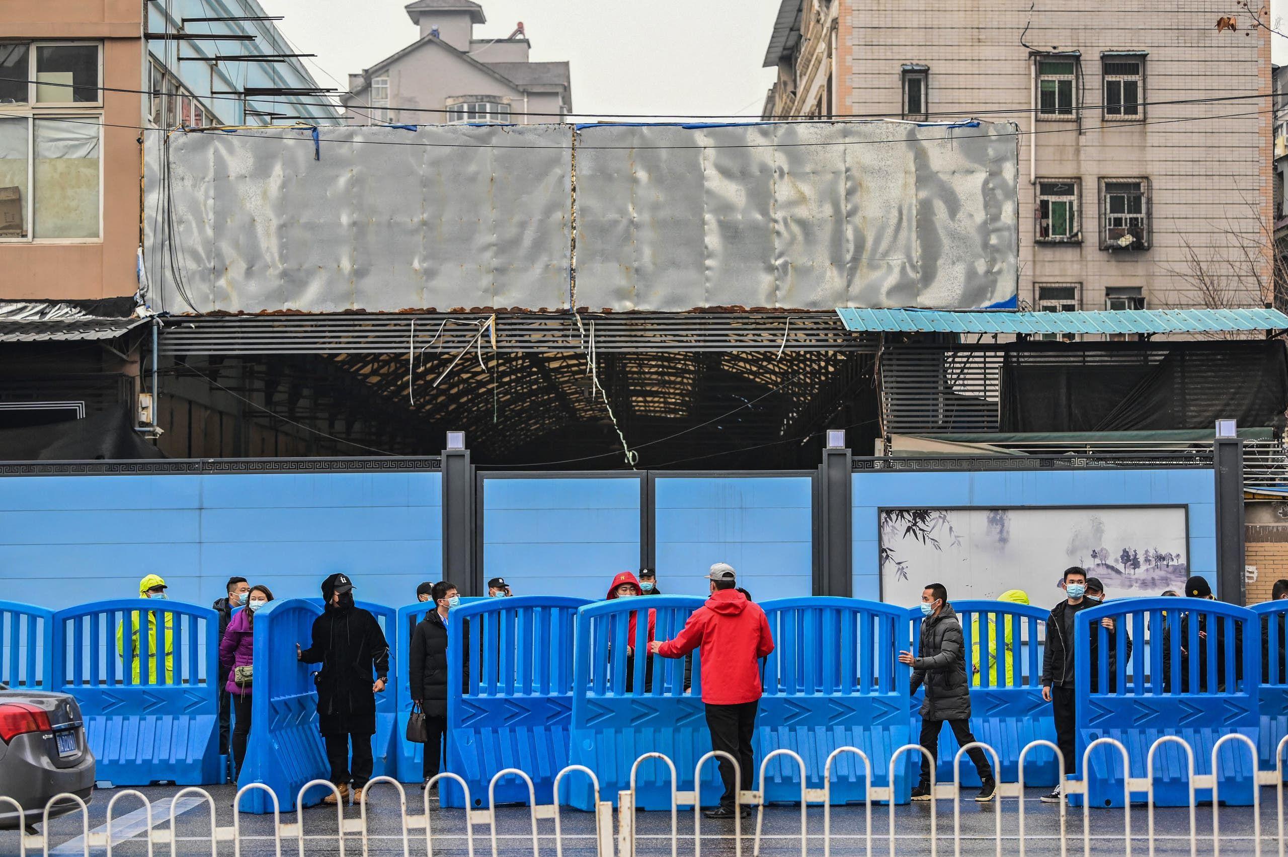 من سوق ووهان المغلق يوم 31 يناير 2021