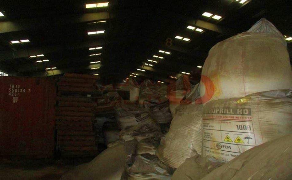 كمية نترات المونيوم التي كانت مخزنة في مرفأ بيروت
