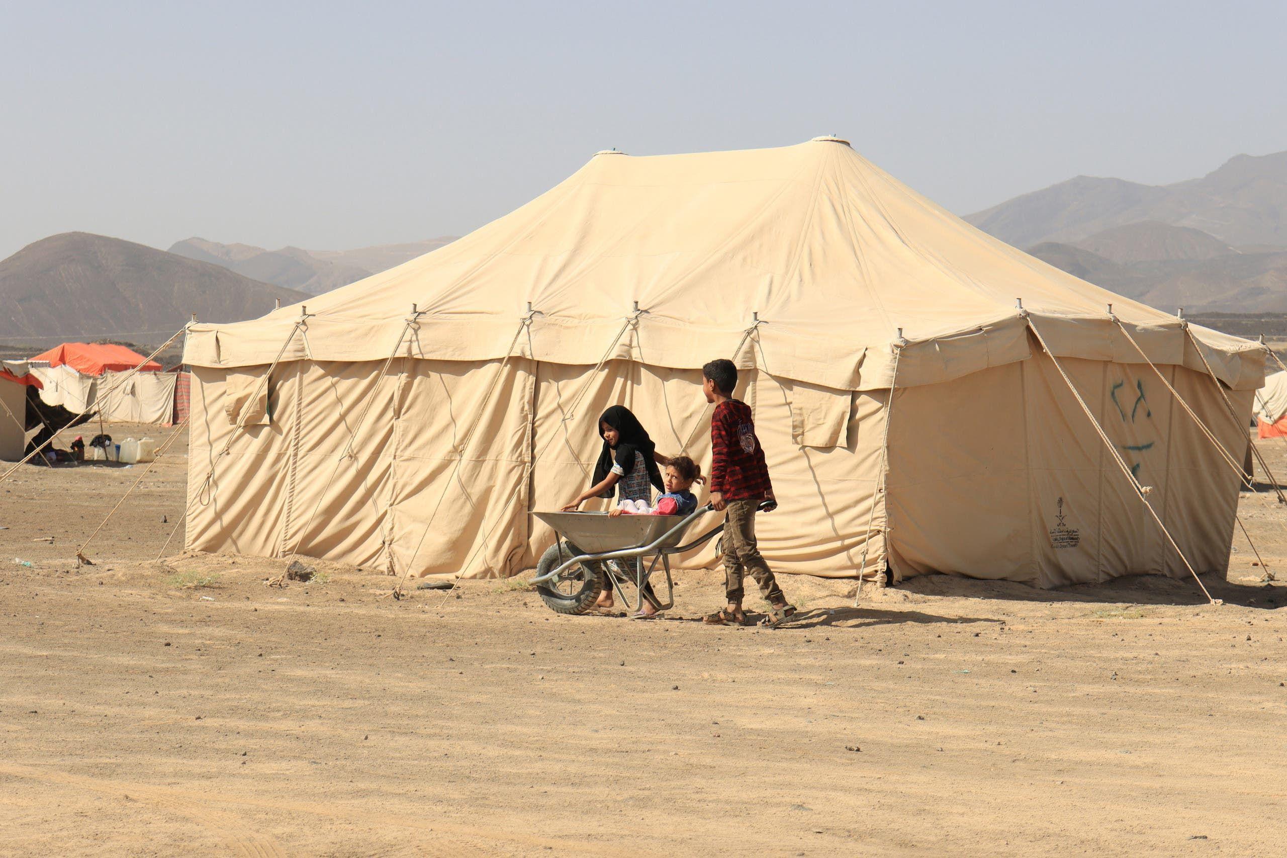 مخيم للنازحين في مأرب