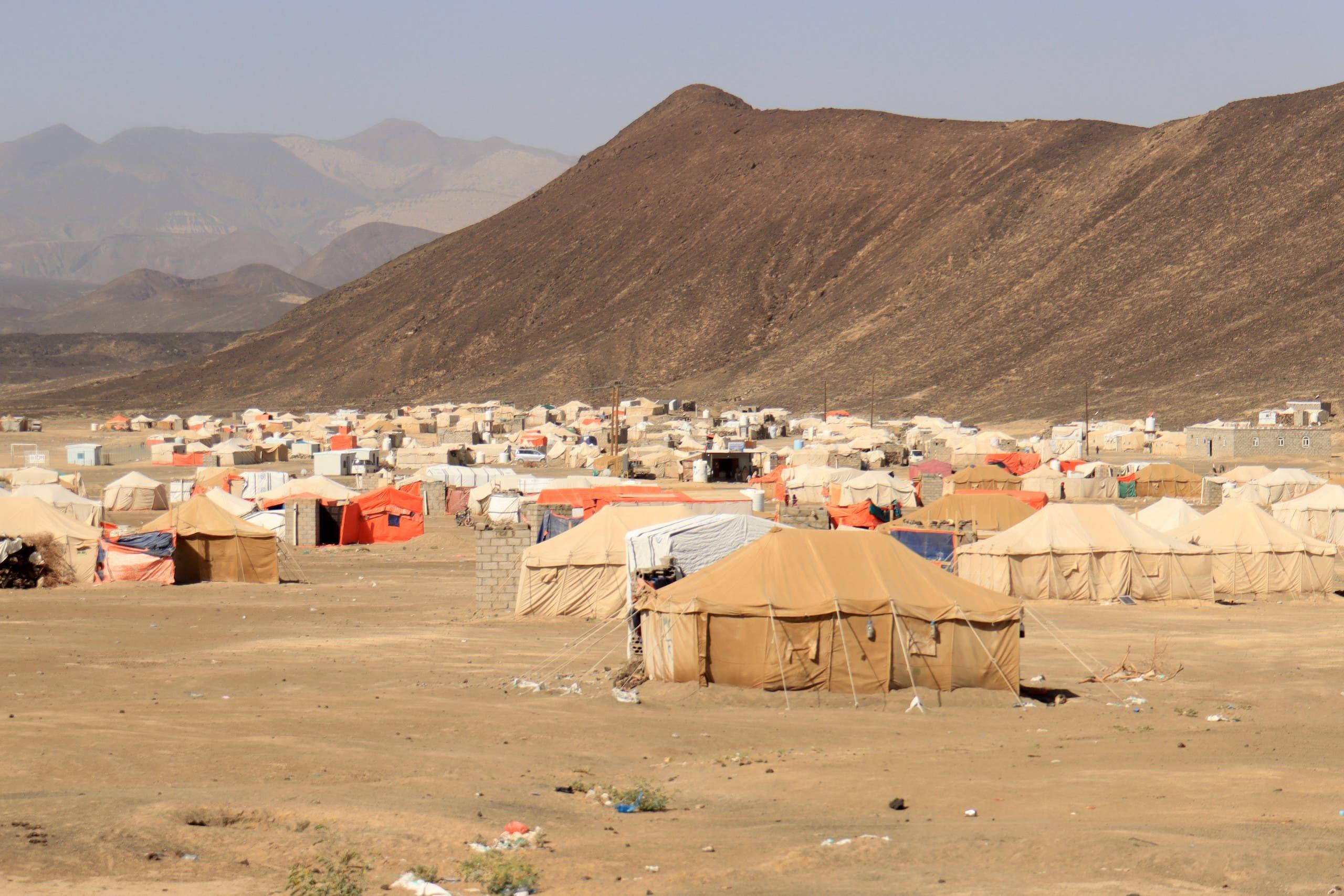 مخيم للنازحين في مأرب (أرشيفية)