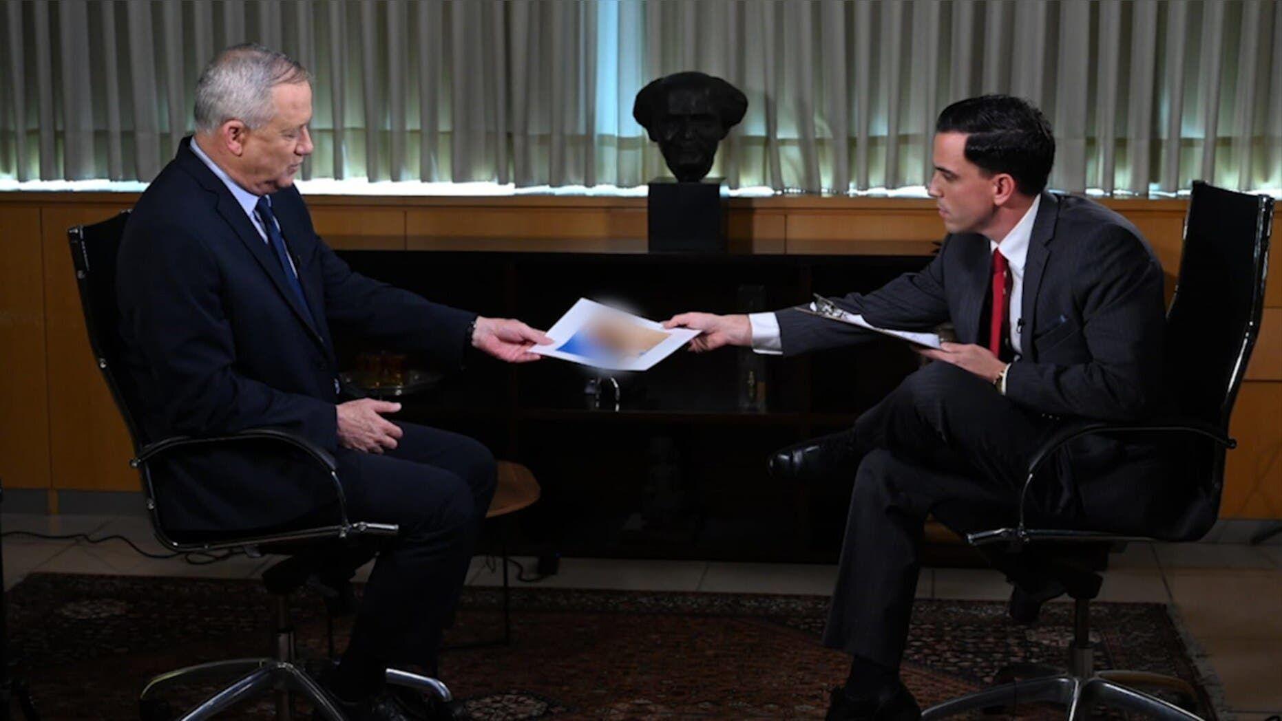 غانتس خلال مقابلته مع فوكس نيوز
