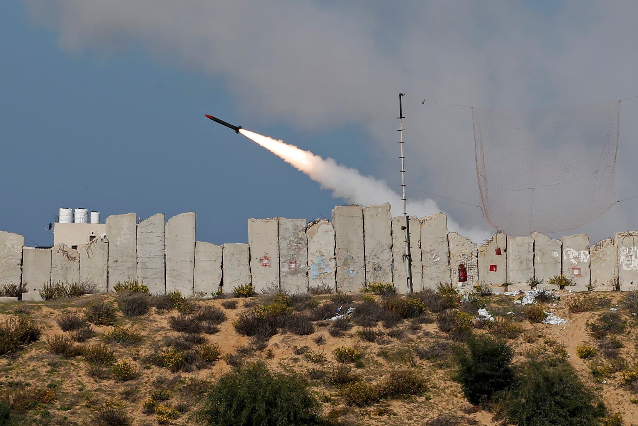اختبار إطلاق صاروخ صوب البحر من غزة في ديسمبر الماضي