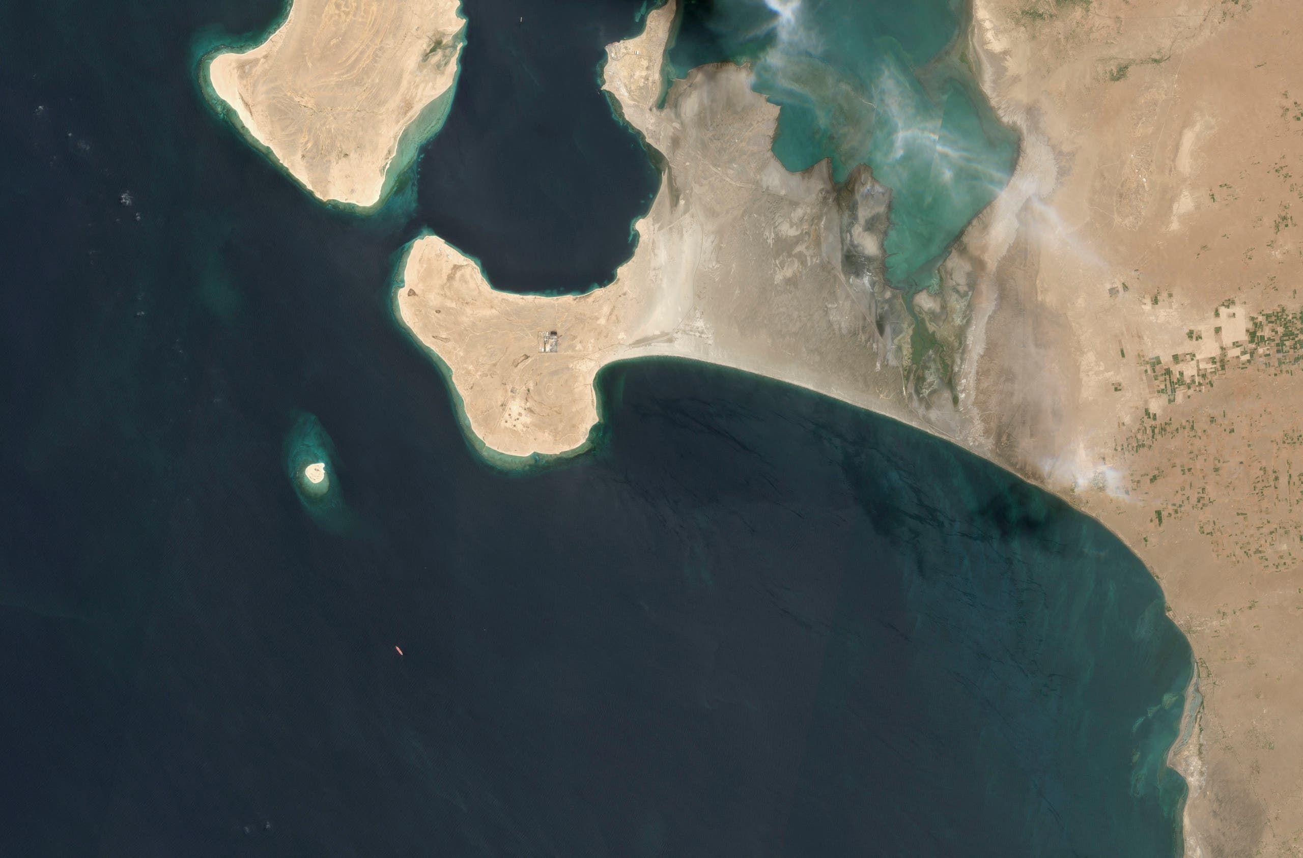 صورة بالأقمار الاصطناعية تظهر مكان رسو صافر قبالة الحديدة