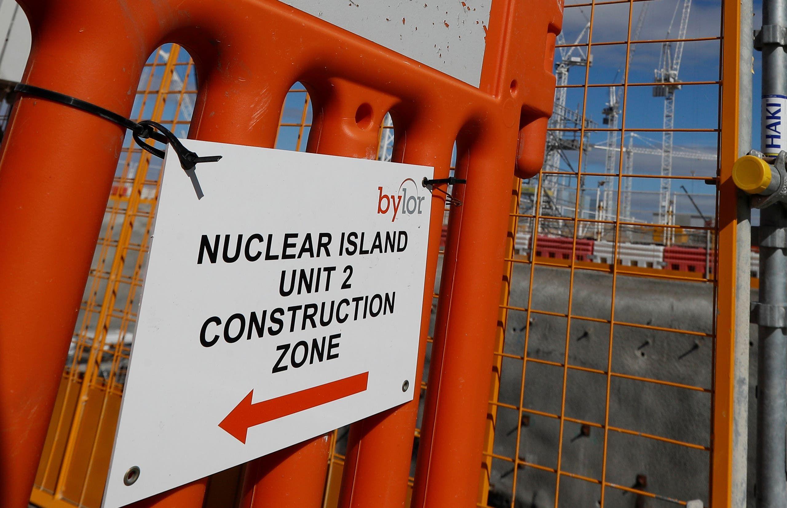من ورشة بناء مفاعل نووي في بريطانيا (أرشيفية)