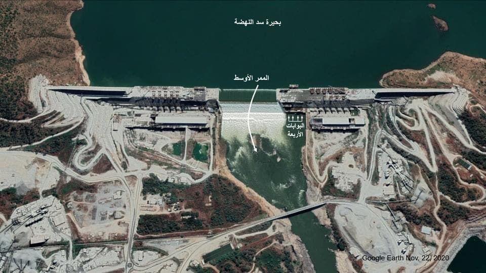صور أقمار صناعية حديثة لسد النهضة