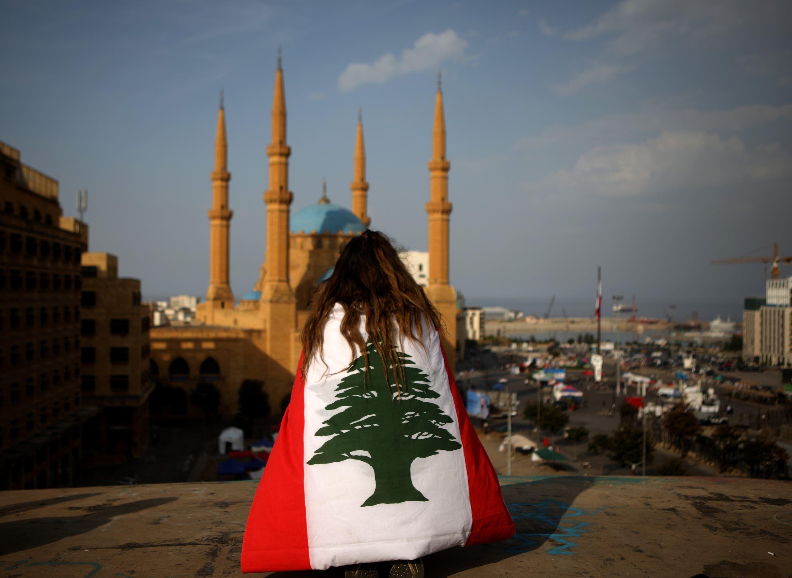من وسط بيروت (أرشيفية- فرانس برس)