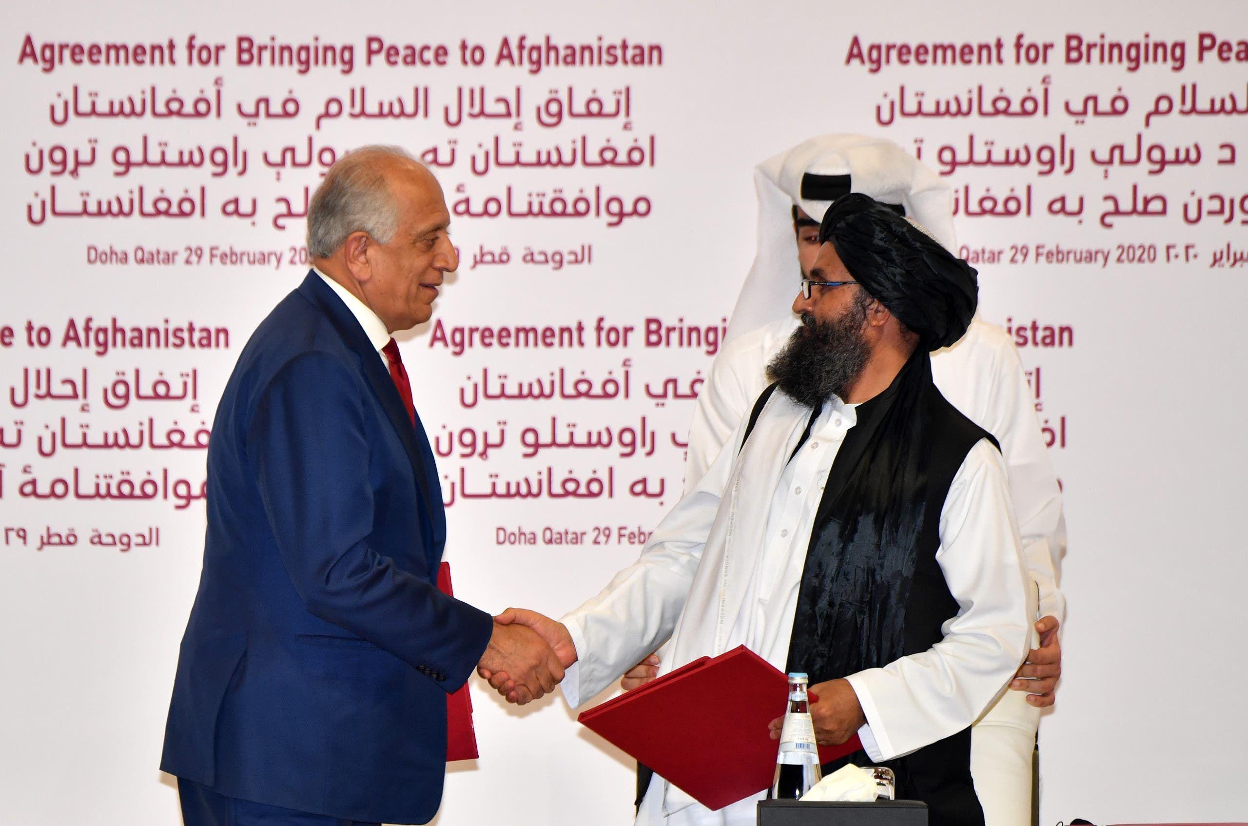 من توقيع الاتفاق في فبراير 2020 في الدوحة بين طالبان وواشنطن