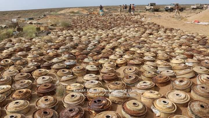 نزع ألغام زرعها الحوثيون في حجة