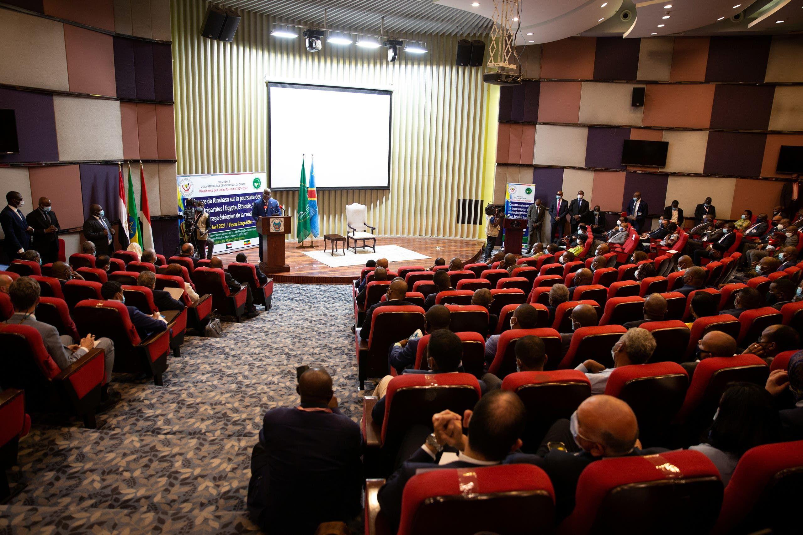 من محادثات سد النهضة في كينشاسا يوم 4 أبريل 2021