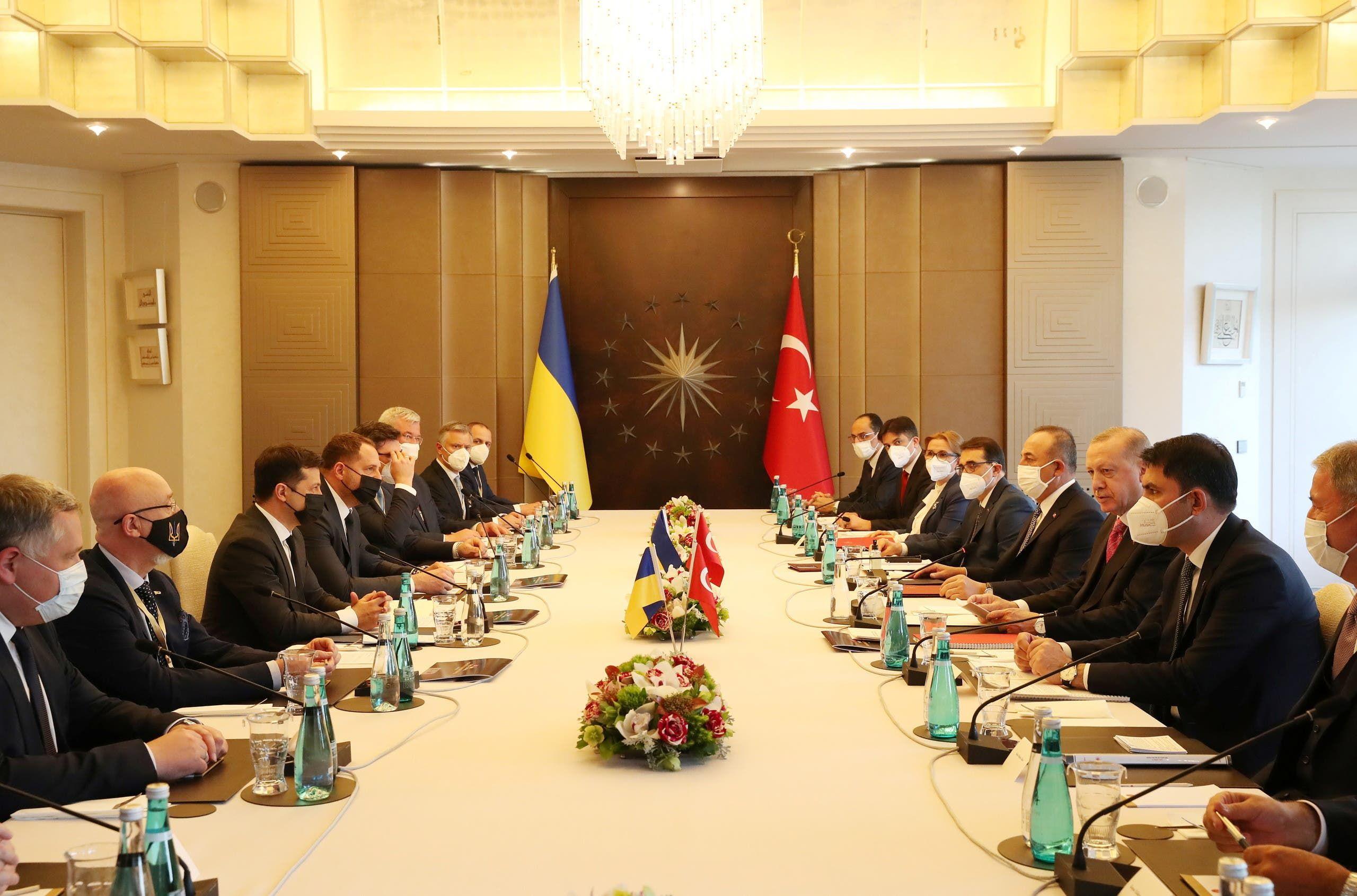 من مباحثات زيلينسكي مع أردوغان
