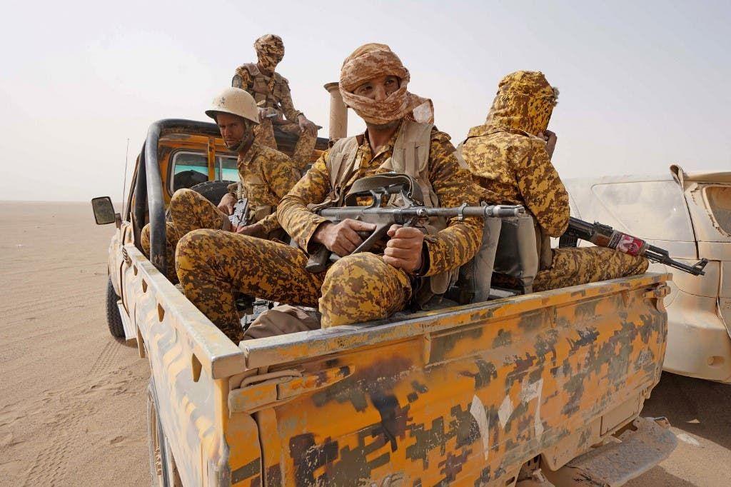 عناصر من الجيش اليمني في مأرب (أرشيفية)