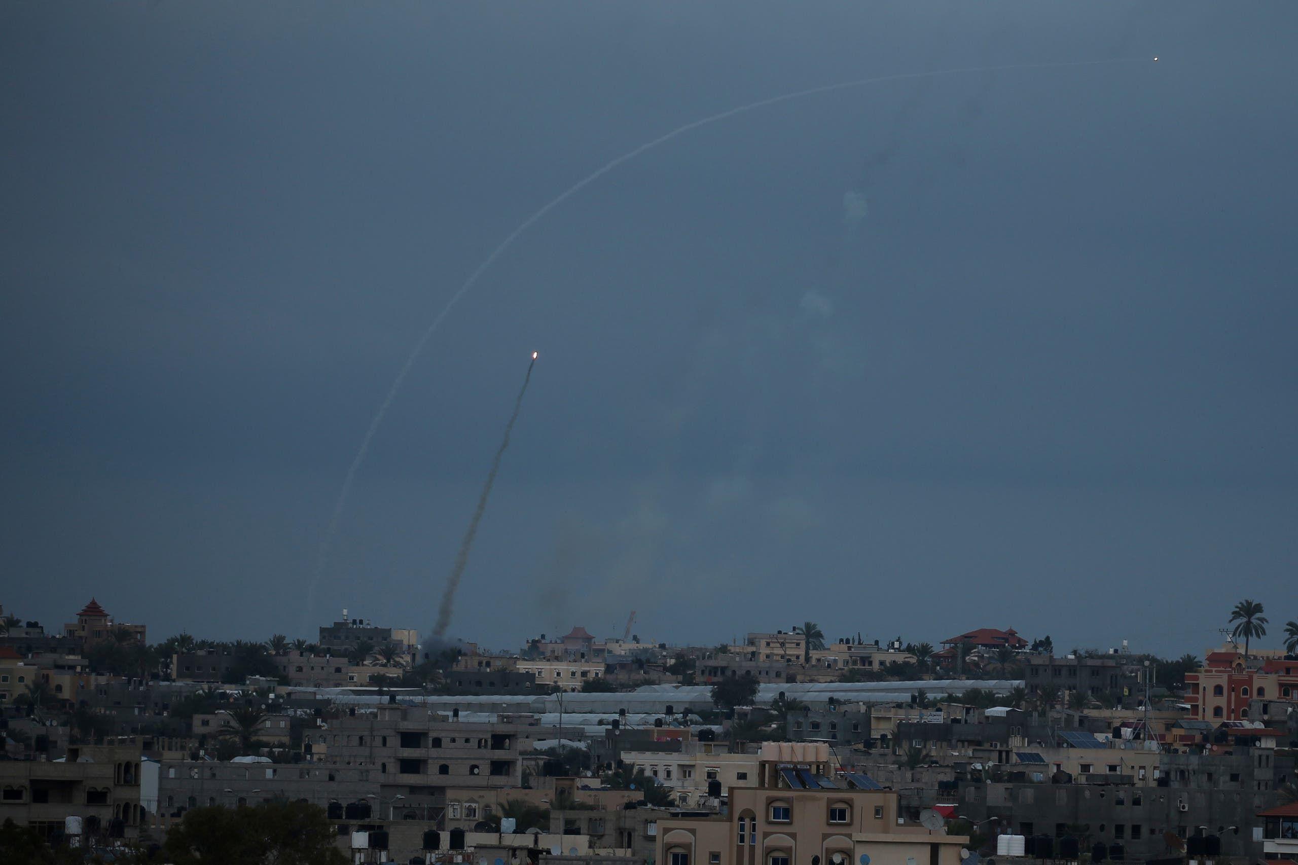 إطلاق صواريخ من غزة في فبراير 2020 (أرشيفية)