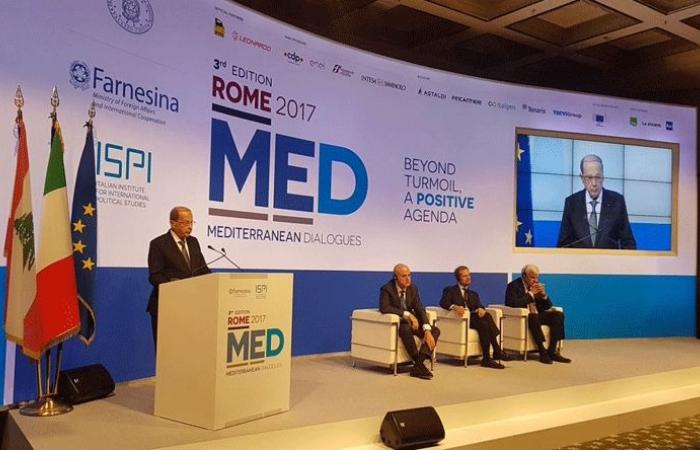 عون مفتتحًا ROME MED: انقسامات اللبنانيين لم تعد تتخطى السياسة وسقفها وحدتهم الوطنية