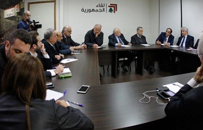 """""""لقاء الجمهورية"""": لمعالجة مضمون استقالة الحريري والذهاب الى أصل المشكلة"""