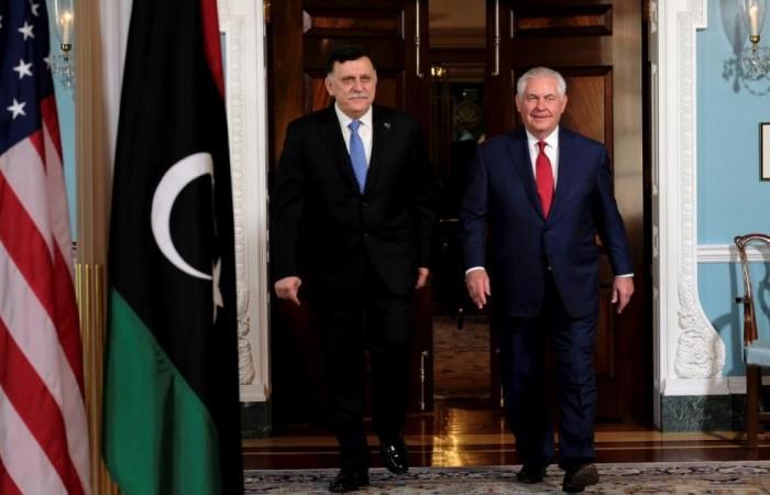 السراج يلتقي ترمب وواشنطن تدعم الاتفاق السياسي